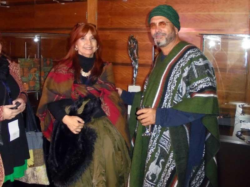 Con el Orfebre cubano Raúl Valladares Valdés